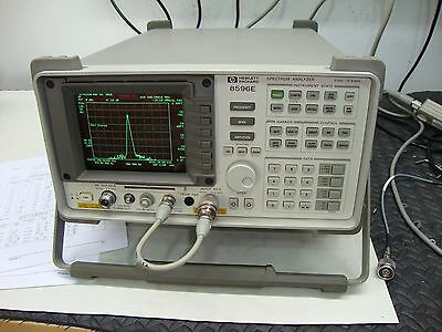 Hp Agilent 8596e Spectrum Analyzer Calibrated With Tracking Generator 12.8 Ghz
