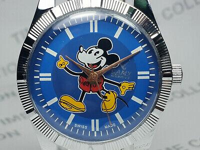 Vintage Camy Mickey Mouse Dial Mechanical Handwinding Mens Wrist Watch WG176