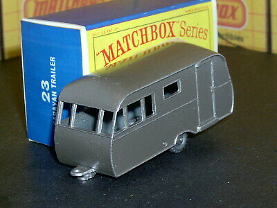 Matchbox Lesney Bluebird Dauphine Caravan 23 c3 tan 20SPW SC6 EX/NM crafted box