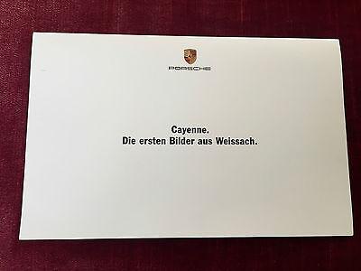 Porsche Cayenne | Stephen Murkett Zeichnung + erstes Werksfoto | 09/2000 Limited