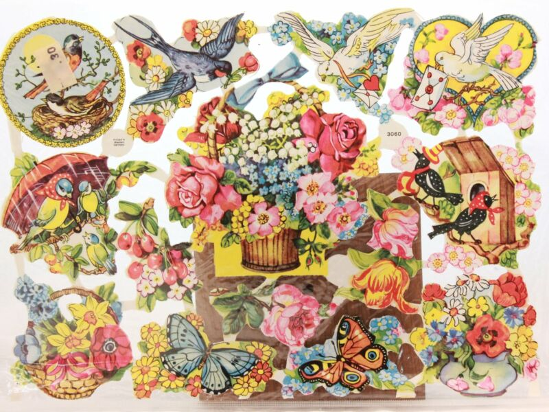 Quick and Easy Paper Scraps for Decoupage, Arts and Crafts. Flowers 3060