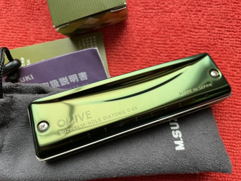 Suzuki Olive C20 10 Hole Diatonic Harmonica - Key of C