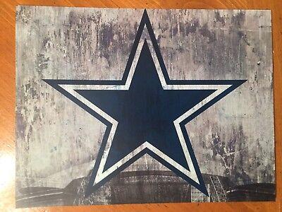 Tin Sign Vintage Dallas Cowboys NFL 1
