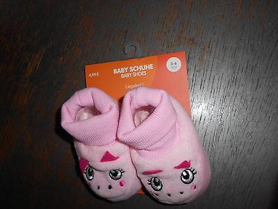Baby Schuhe Nicki  rosa / pink mit Gesicht  Größe 3 - 6 Monate           - NEU - ()