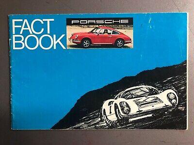 """1969 Porsche 911/912 """"Fact Book"""" Showroom Advertising Brochure RARE!! VG+"""