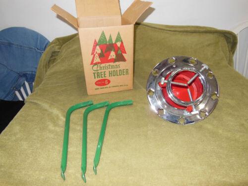 VTG Mid-Century 60s Folding Christmas Tree Stand Holder / in original box