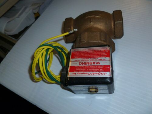 NEW Gould M-3V Solenoid Valve Size 1 Air/Water 5-125 PSI 120V 60Hz Free Shipping