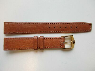 Gucci camel brown vintage leather watch band 14 mm