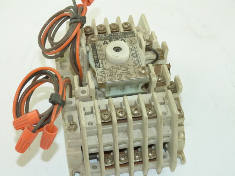 ASCO 917 442031 Lighting Contactor 4p 120v Coil Used