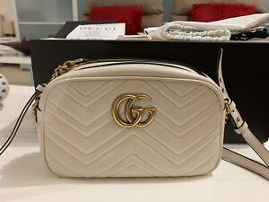 0c20fe381e6 100% Authentic Gucci GG Marmont shoulder  47 crossbody bag small ...