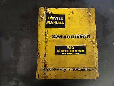 Caterpillar Cat 980 Wheel Loader Service Manual 42h