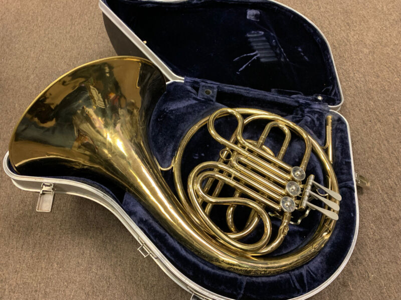 Vintage C.G. Conn Ltd USA French Horn for parts or repair project