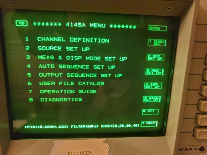 HP 4145A Semiconductor Parameter Analyzer