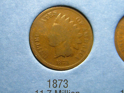 1873 INDIAN HEAD CENT                                                    16TH