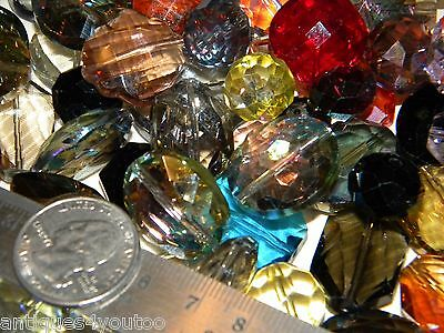 NEW 10/pc Jesse James Beads Crystal FACETED GLASS 10-20mm Size Lot Random