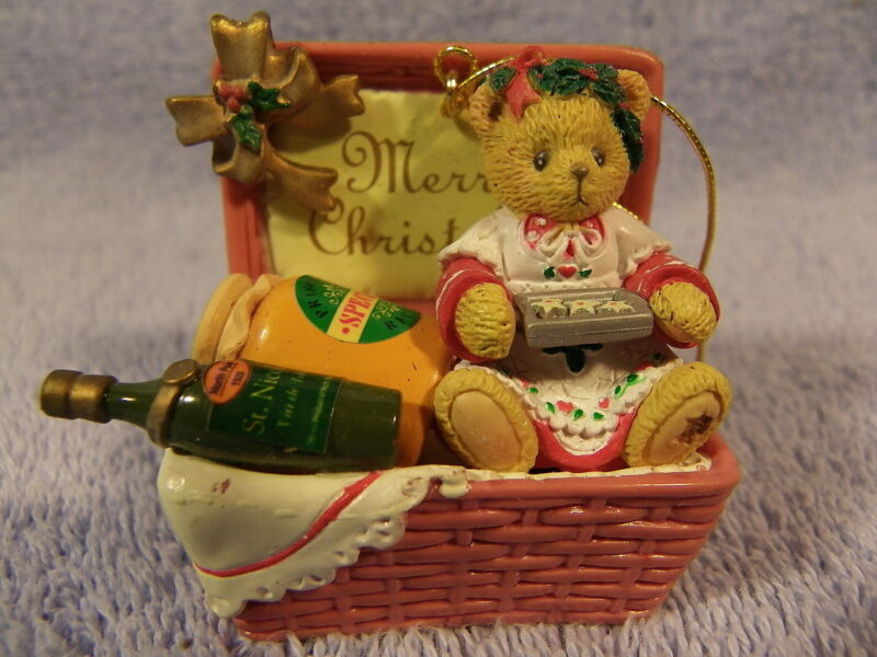 Merry Christmas Basket #406627 Cherished Teddies Ornament
