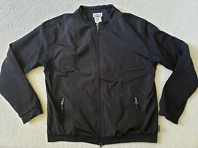 Versace Classic Cotton & Nylon Full Zip Slim Fit Black Jacket, Made in Italy XXL