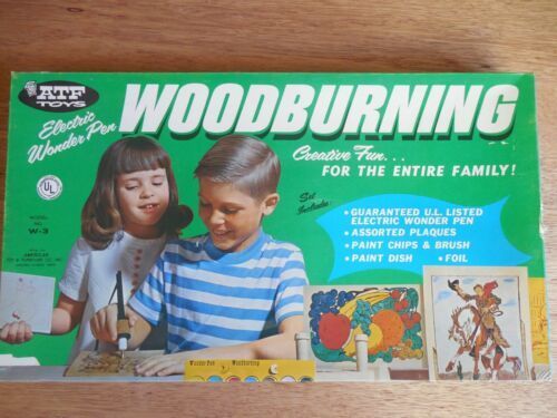 NEW/NEVER USED!  Vintage American Toy & Furniture Co (ATF) Woodburning Kit  MINT