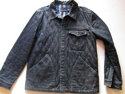 VTG 90's Vintage NAUTICA Navy Quilt Lined Mens Barn Jacket Coat XL