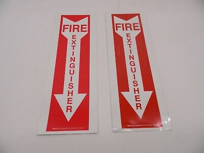 Set Of 2 Fire Extinguisher Sticker Decals Inspection 14 Tall 5 Wide