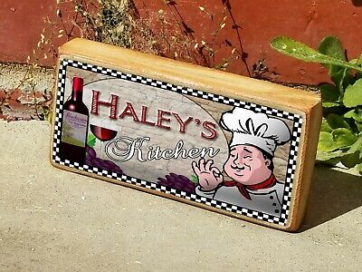 Mini Wood Fat Chef Italian Custom Your Name