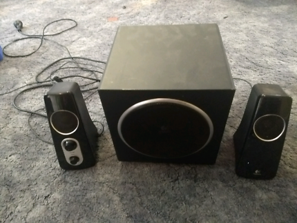 Logitech speakers and sub AUX output