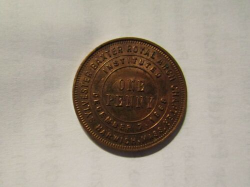 Masonic Mason Shiner Coin/Token Sylvester Baxter Royal Arch Chapter, Harwich, MA