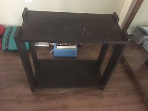 Small brown shelf sturdy condition may need painting
