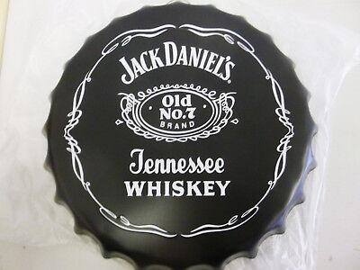Jack Daniels Wisky Gr Kronkorken geprägt Reklameschild Werbeschild Blech Jacky
