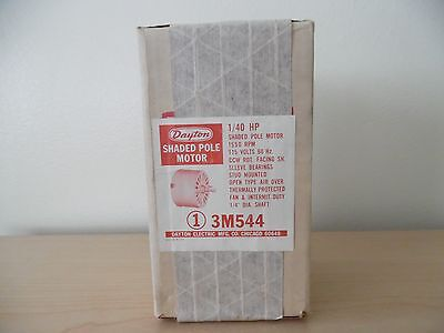 Dayton Electric Mfg. Co. Shaded Pole Motor 140 Hp 3m5441550 Rpm115 Vnew Os
