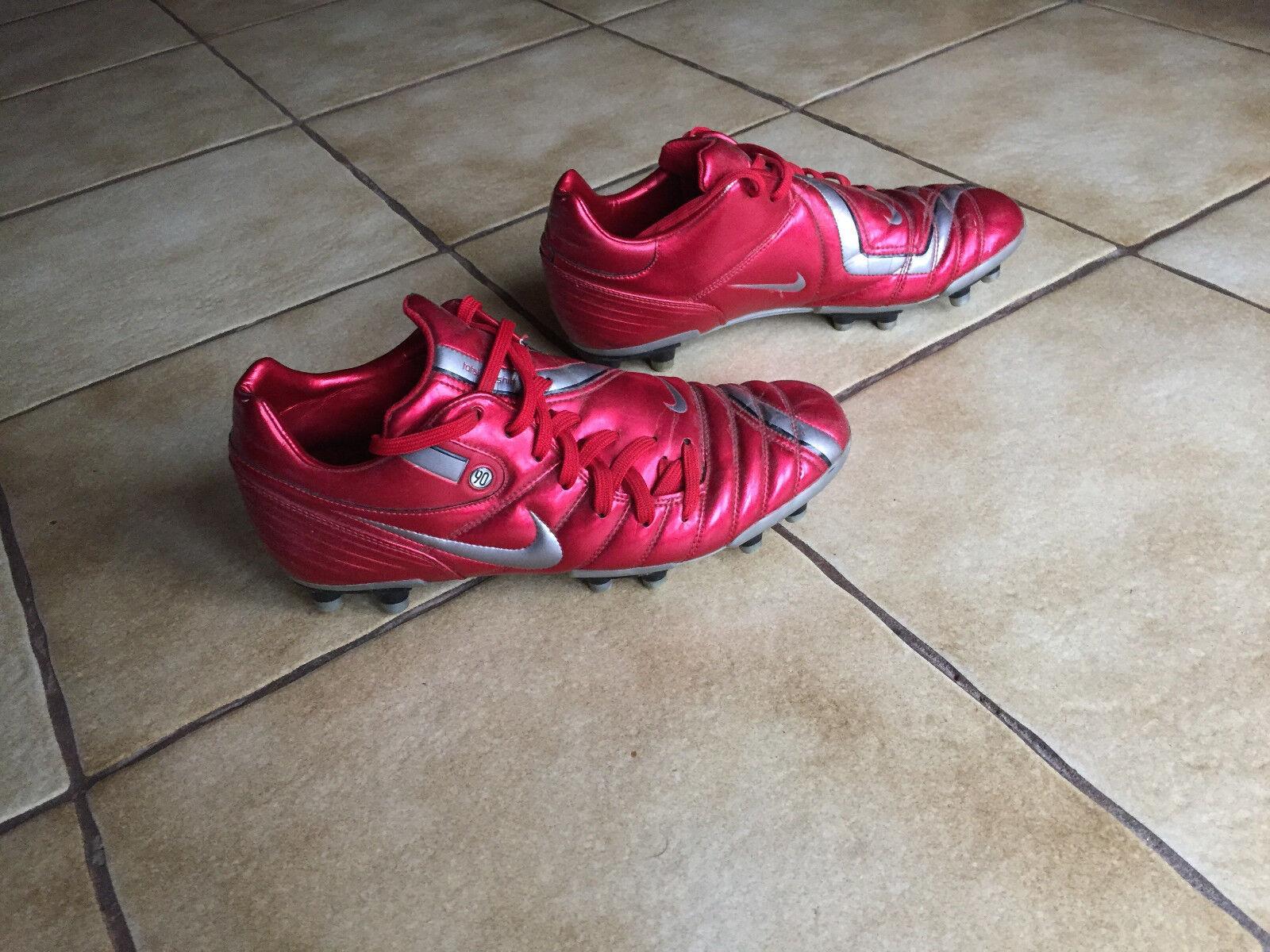 NIKE AIR ZOOM TIEMPO TOTAL 90 FG Fußballschuhe; Größe 44; rot; sehr selten