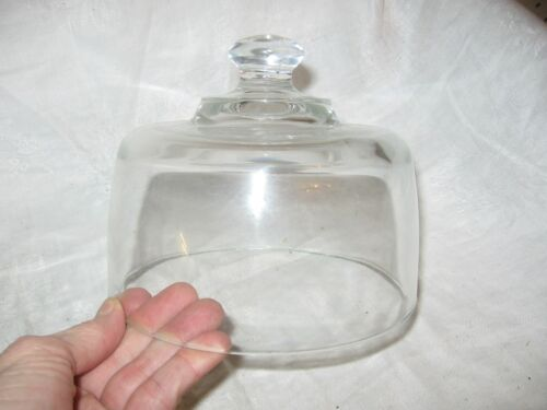 vintage small clear cake / cheese lid topper /  cover
