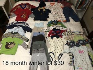 18 month fall/winter clothing lot