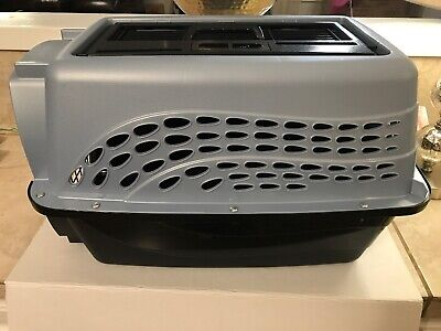 """Petmate Two Door Top Load Kennel Dog Cat Carrier Travel Transport 24"""" Preowned"""