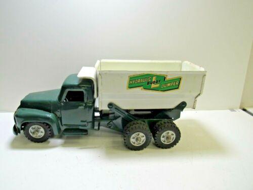 Vintage 1950's Buddy L Hydraulic Dumper Grain Truck Green & White East Moline IL