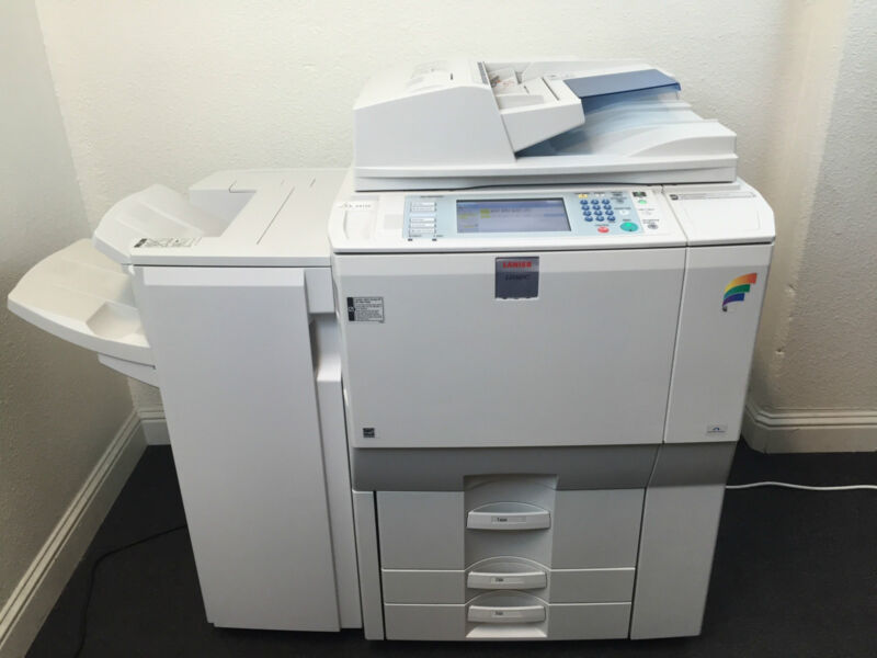 Lanier Ld365c Color Copier Printer Scanner Network & Finisher Aficio Mp C6501sp