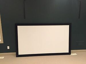 "92"" projector screen, MINT"
