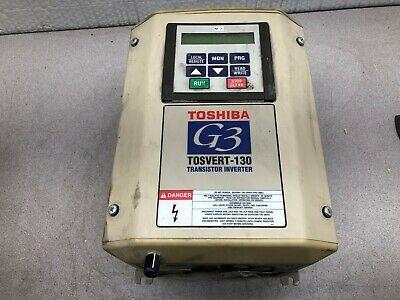 Used Toshiba G3 Tosvert-130 2 Hp 230 Vac Input 3 Ph .1-80400 Hz Inverter Drive