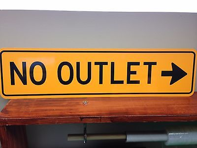 (NO OUTLET Metal Sign with arrow  6
