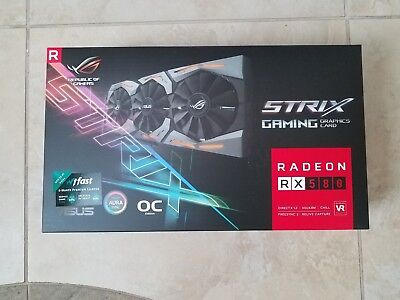 New ASUS ROG Strix Radeon RX 580 O8G Gaming OC Edition GDDR5 8GB Graphic Card