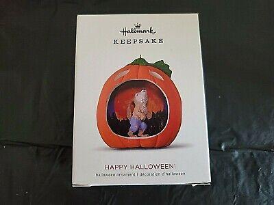 Hallmark 2018 Happy Halloween! Werewolf 6th in Series Pumpkin Keepsake Ornament