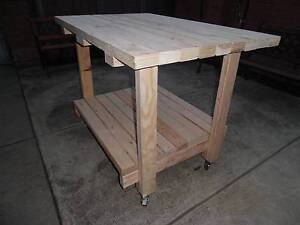 WORK BENCH WITH SHELVE 90x 45 timber Edithvale Kingston Area Preview
