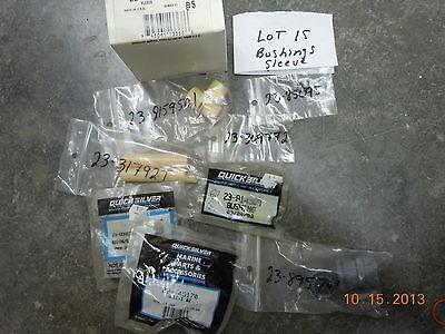 Mercury Mariner Quicksilver Parts, LOT OF 21 SLEEVE, SPACER, BUSHING