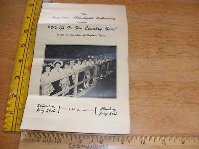 1940s Pasadena Moonlight Rollerway program and ticket Roller Skating dance show