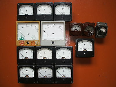 Vintage Analogampvoltmiliampermicroammetervintage Recorder 40 Pcs.to Choose