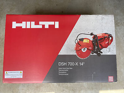 Hilti Dsh 700-x Concrete Saw 70 Cc Gas Handheld Air Filtration System 14 Inch