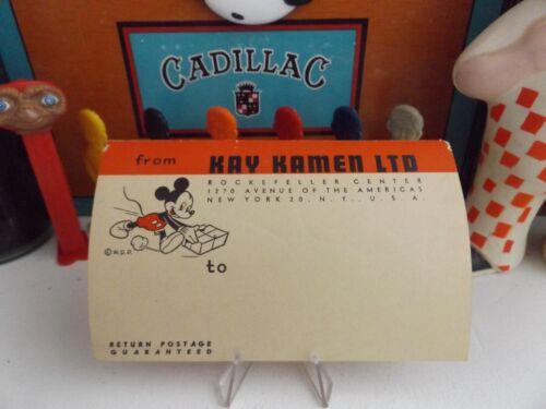 1930s WALT DISNEY PRODUCTIONS MICKEY MOUSE EARLY KAY KAYMEN ORIGINAL LABEL