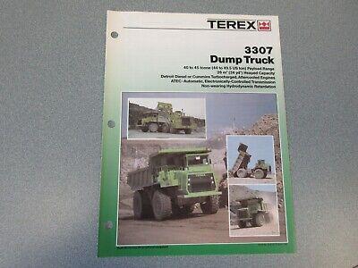 Terex 3307 Dump Truck Literature