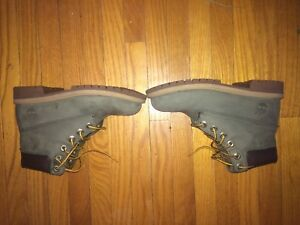 Green Timberland boots size 4