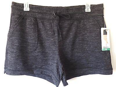 32 Degrees Womens XL Black Storm Fleece Poly Rayon Spandex Shorts D/S Waist New Storm Fleece Shorts